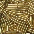82011 Victorian Gold Medium Bugle Glass Seed Beads