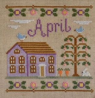 Country Cottage Needleworks April Cottage of the Month cross stitch chart