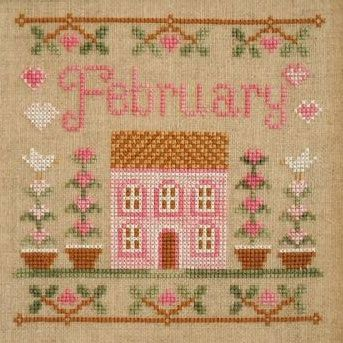Country Cottage Needleworks February Cottage of the Month cross stitch chart