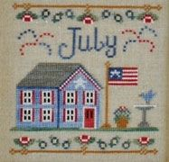 Country Cottage Needleworks July Cottage of the Month cross stitch chart