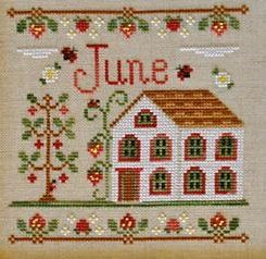 Country Cottage Needleworks June Cottage of the Month cross stitch chart