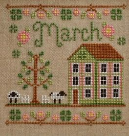 Country Cottage Needleworks March Cottage of the Month cross stitch chart