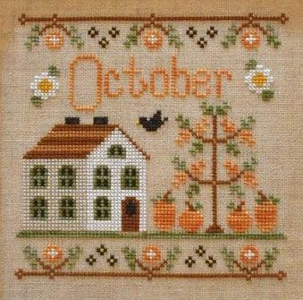 Country Cottage Needleworks October Cottage of the Month cross stitch chart