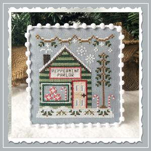 Country Cottage Needleworks Peppermint Parlor - Snow Village cross stitch chart
