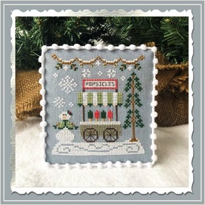Country Cottage Needleworks Popsicle Cart - Snow Village cross stitch chart
