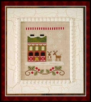 Country Cottage Needleworks Reindeer Stables - Santa's Village cross stitch chart