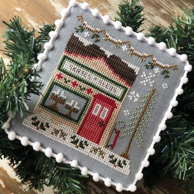 Country Cottage Needleworks Skate and Sled Shop - Snow Village cross stitch chart