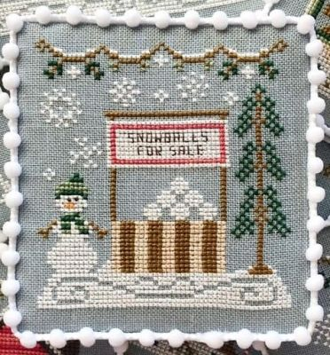 Country Cottage Needleworks Snowball Stand - Snow Village cross stitch chart
