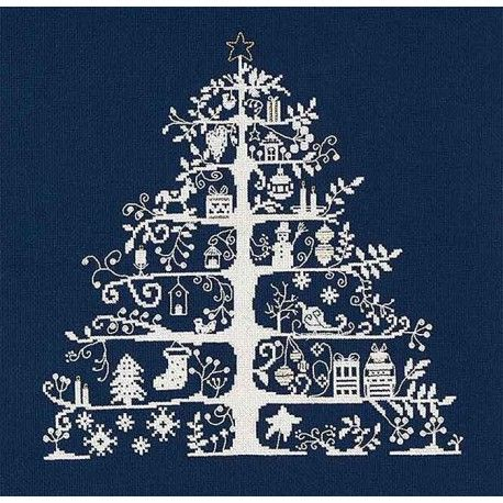 DMC Blue Christmas Tree cross stitch kit