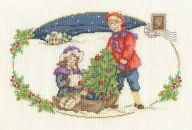 DMC Christmas Tree cross stitch kit