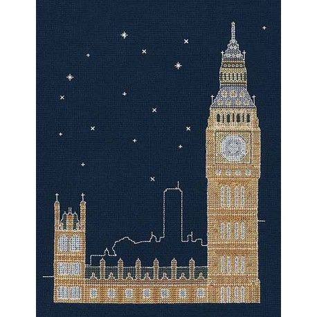 DMC London By Night cross stitch kit
