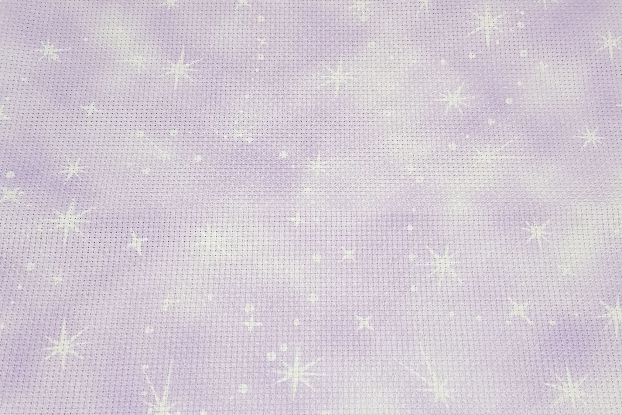 Piece approx 45 x 50cm Fabric Flair Silver /& Gold Fairy Dust with sparkles 16 count Aida