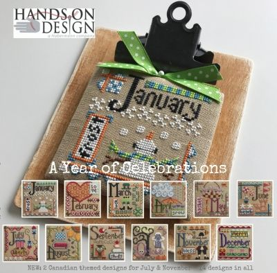 Hands on Design A Year of Celebrations cross stitch chart