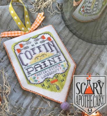 Hands on Design Coffin Paint Scary Apothecary Series cross stitch chart