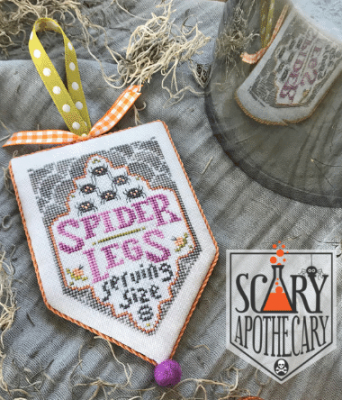 Hands on Design Spider Legs  Scary Apothecary Series cross stitch chart