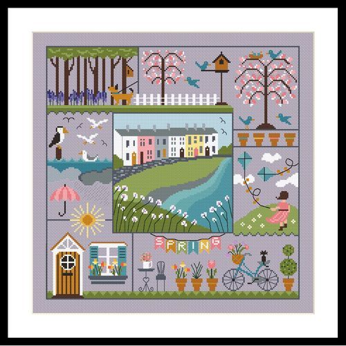 Little Dove Designs A Stitch for all Seasons - Spring printed cross stitch chart