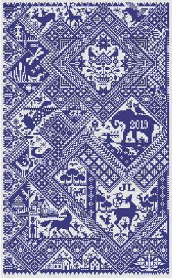 Long Dog Samplers Sans Soucis printed cross stitch chart - LD102