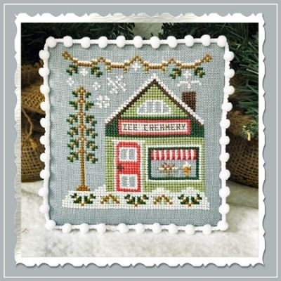 Country Cottage Needleworks Ice Creamery - Snow Village cross stitch chart