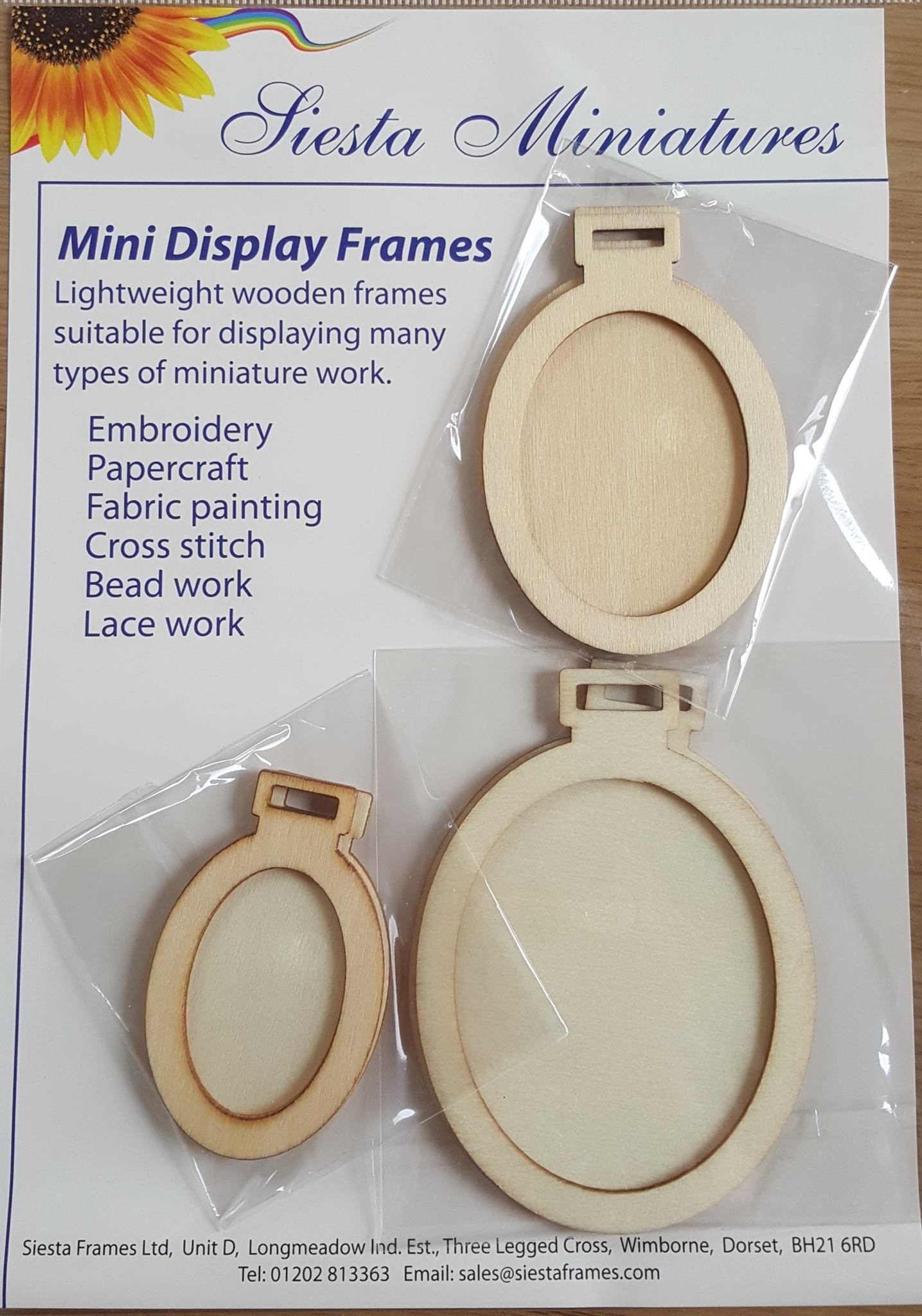 Mini Wooden Oval Display Frames