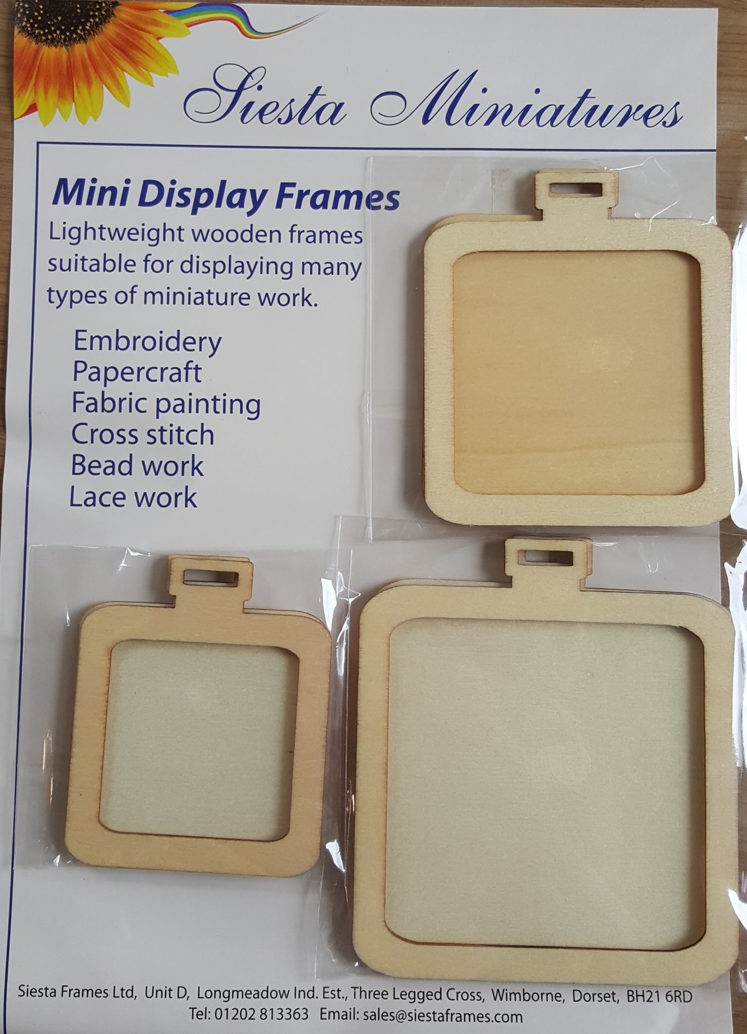 Mini Wooden Square Display Frames